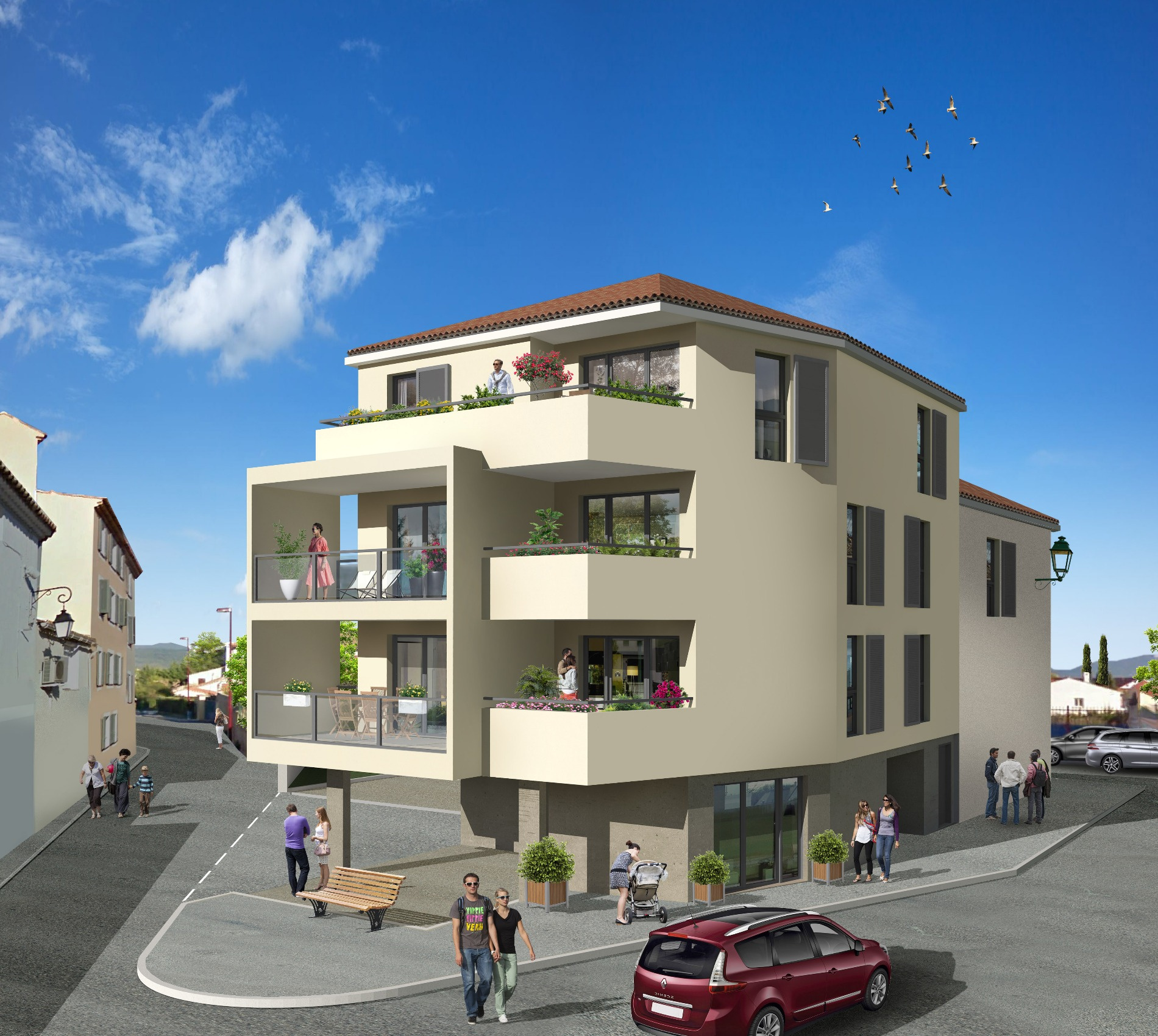 offres programmes neufs la farlede centre ville appartement type 3 ascenseur parking. Black Bedroom Furniture Sets. Home Design Ideas