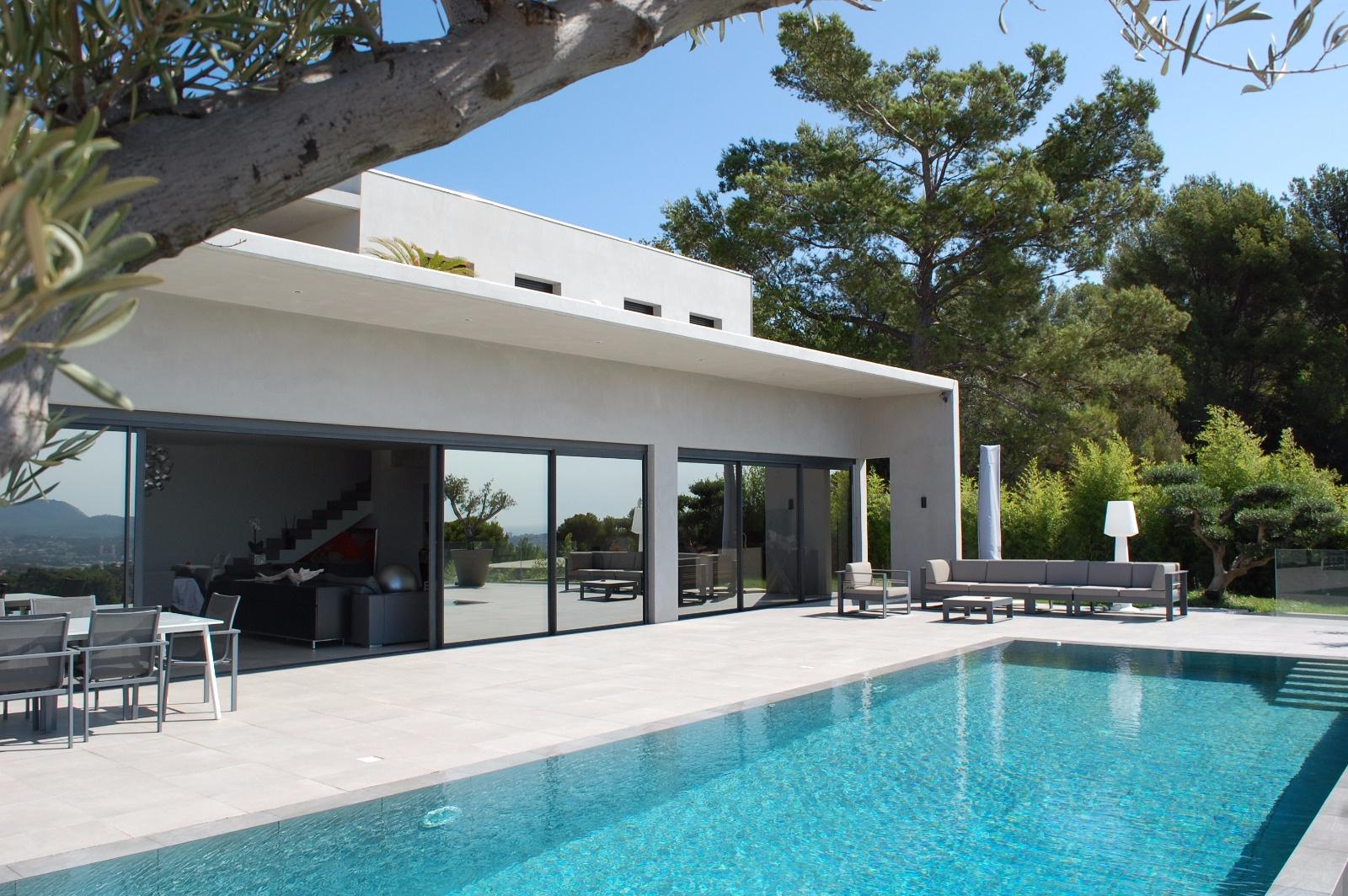 vente ollioules maison contemporaine vue mer panoramique. Black Bedroom Furniture Sets. Home Design Ideas